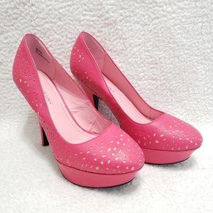 Just Fabulous | Pink Belaira Lazercut Detail Heels